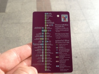 Using the BTS is relatively cheap and easy. Even the backs of the tickets are helpful and include a map.