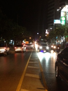 "The ""median"" on a Bangkok street is a scary place to be."