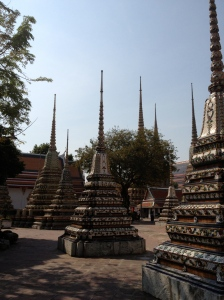 Inside the Wat Pho compound in Bangkok, Thaialand.