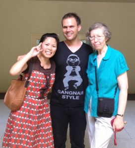 Me, Bjorn and Mrs. H at APIU. Mrs. H also kindly delivered the non-whitening SPF lotion my wonderful in-laws got me after reading the post about my futile hunt for it in Bangkok.