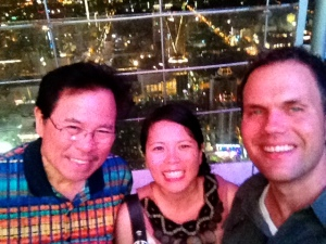 My dad, me and Bjorn high atop the Baiyoke Sky Hotel. (Photo by Bjorn Karlman)