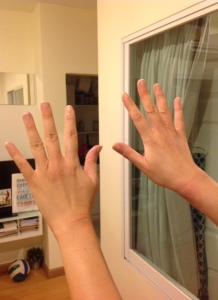 The skin I'm in: I've developed eczema on my wrists and knuckles during this pregnancy.